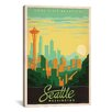 """iCanvas """"Seattle, Washington"""" by Anderson Design Group Vintage Advertisement on Wrapped Canvas"""