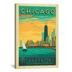 iCanvas 'The Lakefront - Chicago, Illinois' by Anderson Design Group Vintage Advertisment on Canvas