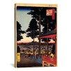 iCanvas 'The Inari Hrine at Oji' by Katsushika Hokusai Painting Print on Canvas