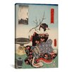 iCanvas Woman with Tree Branch Japanese Woodblock Painting Print on Canvas