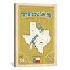iCanvas 'The Lone Star State - Texas ll' by Anderson Design Group Vintage Advertisement on Wrapped Canvas