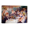 """iCanvas """"The Luncheon of the Boating Party 1881"""" by Pierre-Auguste Renoir Painting Print on Canvas"""