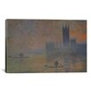 iCanvas 'The Houses of Parliament 1902-1904' by Claude Monet Painting Print on Wrapped Canvas