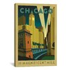 iCanvas 'The Magnificent Mile - Chicago, Illinois ll' by Anderson Design Group Vintage Advertisement on Wrapped Canvas