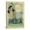 iCanvas 'The Hulu Hideout' by Anderson Design Group Vintage Advertisement on Wrapped Canvas