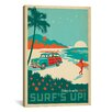 iCanvas Anderson Design Group Surf's Up Vintage Advertisement on Canvas
