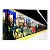 iCanvas Train Graffiti Photographic Print on Wrapped Canvas
