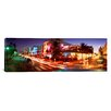 iCanvas Panoramic Traffic on a Road, Ocean Drive, Miami, Florida Photographic Print on Canvas