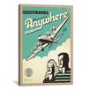 iCanvas 'Travel Anywhere' by Anderson Design Group Vintage Advertisement on Wrapped Canvas