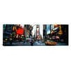 iCanvas Panoramic Traffic on a Road, Times Square, New York City Photographic Print on Canvas