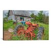 iCanvas 'Tractors in Weeds' by Bob Rouse Photographic Print on Canvas