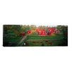 iCanvas Panoramic Traditional Red Farm Houses and Barns at Village, Stensjoby, Smaland, Sweden Photographic Print on Wrapped Canvas