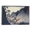 "iCanvas ""Travellers on a Mountain Path at Night"" Canvas Wall Art by Utagawa Hiroshige l"