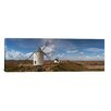iCanvas Panoramic Traditional Windmill on a Hill, Consuegra, Toledo, Castilla La Mancha, Toledo province, Spain Photographic Print on Wrapped Canvas