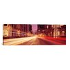 iCanvas Panoramic Traffic on the Road at Dusk, Michigan Avenue, Chicago, Cook County, Illinois Photographic Print on Wrapped Canvas