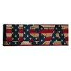 iCanvas Flags U.S.A. Wood Graphic Art on Canvas