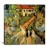 """iCanvas """"Village Street and Steps in Auvers with Two Figures"""" by Vincent Van Gogh Painting Print on Wrapped Canvas"""