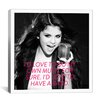 iCanvas Selena Gomez Quote Canvas Wall Art