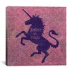 """iCanvas """"Unicorn"""" by Erin Clark Graphic Art on Wrapped Canvas"""