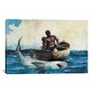 iCanvas 'Shark Fishing 1885' by Winslow Homer Painting Print on Canvas