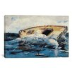 iCanvas 'Sharks (The Derelict) 1885' by Winslow Homer Painting Print on Wrapped Canvas