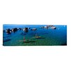 iCanvas Panoramic Women Paddle Boarding in a Lake, Lake Tahoe, California Photographic Print on Wrapped Canvas