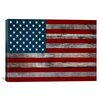 "iCanvas ""U.S. Constitution - American Flag"", Wood Boards Graphic Art on Canvas"