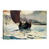 iCanvas 'Tynemouth, Returning Fishing Boats 1883' by Winslow Homer Painting Print on Canvas