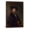 iCanvas 'Self Portrait at the Age of 34 1640' by Rembrandt Van Rijn Painting Print on Canvas