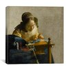 """iCanvas """"The Lacemaker"""" by Johannes Vermeer Painting Print on Wrapped Canvas"""