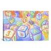 iCanvas Kids Children Toy Blocks Canvas Wall Art