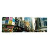 iCanvas Panoramic Traffic in a City, 42nd Street, Eighth Avenue, Times Square, Manhattan, New York City Photographic Print on Wrapped Canvas