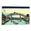 iCanvas 'Under Mannen Bridge at Fukagawa' by Katsushika Hokusai Painting Print on Canvas
