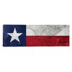 iCanvas Texas Flag, Map Panoramic Graphic Art on Canvas