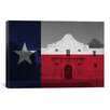 iCanvas Flags Texas The Alamo Graphic Art on Canvas
