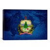 iCanvas Flags Vermont Skiing Graphic Art on Wrapped Canvas