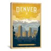 "iCanvas ""The Mile High City Denver, Colorado"" by Anderson Design Group Vintage Advertisment on Canvas"