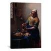 iCanvas 'The Milkmaid' by Johannes Vermeer Painting Print on Canvas