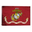 iCanvas Flags U.S. Marine Grunge Painted Graphic Art on Canvas