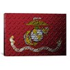 iCanvas Flags U.S. Marine Metal Grunge Graphic Art on Wrapped Canvas