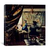 """iCanvas """"The Art of Painting"""" Canvas Wall Art by Johannes Vermeer"""