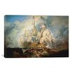 iCanvas 'The Battle of Trafalgar 1822-1824' by Joseph William Turner Painting Print on Wrapped Canvas