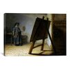iCanvas 'The Artist in His Studio' by Rembrandt Painting Print on Canvas