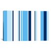 iCanvas True Baby Blue Striped Graphic Art on Canvas