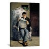 iCanvas 'The Artist's Father (Reading L'Evenement) 1866' by Paul Cezanne Painting Print on Canvas