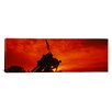 iCanvas Panoramic Silhouette of Statues at a War Memorial, Iwo Jima Memorial, Arlington National Cemetery, Virginia Photographic Print on Canvas