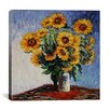 "iCanvas ""Sunflowers"" Canvas Wall Art by Claude Monet"