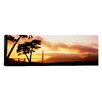 iCanvas Panoramic Silhouette of Trees at Sunset, Golden Gate Bridge, San Francisco, California Photographic Print on Canvas