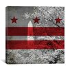 iCanvas Flags Washington D.C, Washington Monument with Grunge Graphic Art on Wrapped Canvas