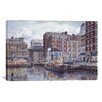 """iCanvas """"Tugboats And Tenements"""" by Stanton Manolakas Painting Print on Wrapped Canvas"""